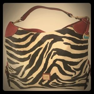 RARE Dooney and Bourke Large Zebra Bag
